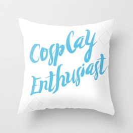 Cosplay Enthusiast Throw Pillow