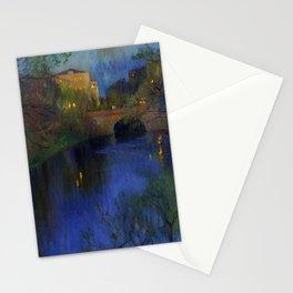 Twilight in Riga, Latvia by Nikolay Bogdanov-Belsky Stationery Cards