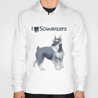schnauzer Hoodies featuring Schnauzer by Bark Point Studio