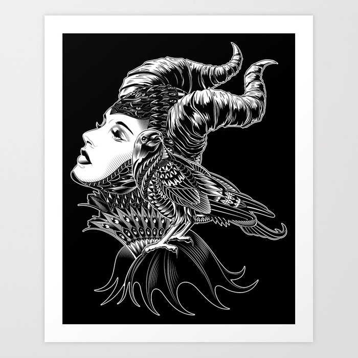 Maleficent Tribute Art Print