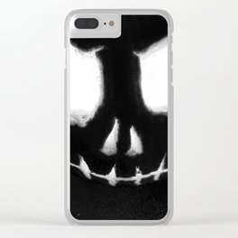 the Dark Arts - Jacko B&W Clear iPhone Case