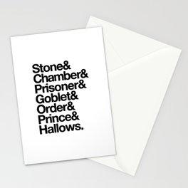 Stone & Chamber & Prisoner & Goblet & Order & Prince & Hallows Stationery Cards