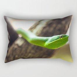 green vine snake head Rectangular Pillow