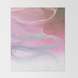 Flow Motion Vibes 1. Pink, Violet and Grey Throw Blanket
