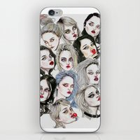 sky ferreira iPhone & iPod Skins featuring Sky Ferreira Collage by Lucas David