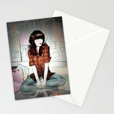 Zooey Deschanel Night Stationery Cards