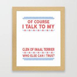 Glen of Imaal Terrier Ugly Christmas Sweater Framed Art Print
