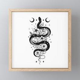 Serpent Spell -Black and White Framed Mini Art Print