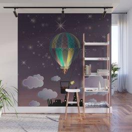 Balloon Aeronautics Night Wall Mural