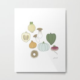 Vegetables (color) Metal Print