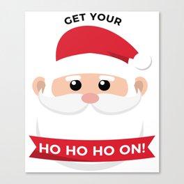Ho Santa Claus Laughter Christmas Celebration Design Canvas Print