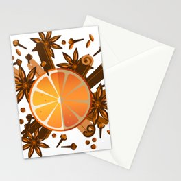 Christmas spices Stationery Cards