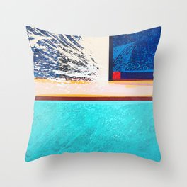 Swash: After the Wave Breaks Throw Pillow