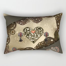 Steampunk heart Rectangular Pillow