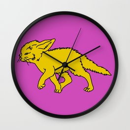 The Sly Fennec Fox Wall Clock