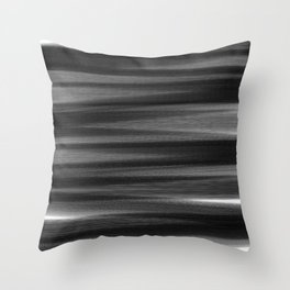 Soft, Dreamy Black White Throw Pillow