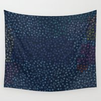 constellations Wall Tapestries featuring Constellations by datavis/pwowk