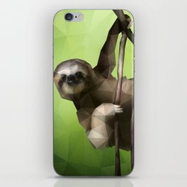 Sloth (Low Poly Lime) iPhone Skin