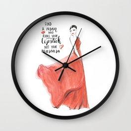 Ruin Your Lipstick Wall Clock