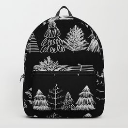 Trees Two White and Black Backpack