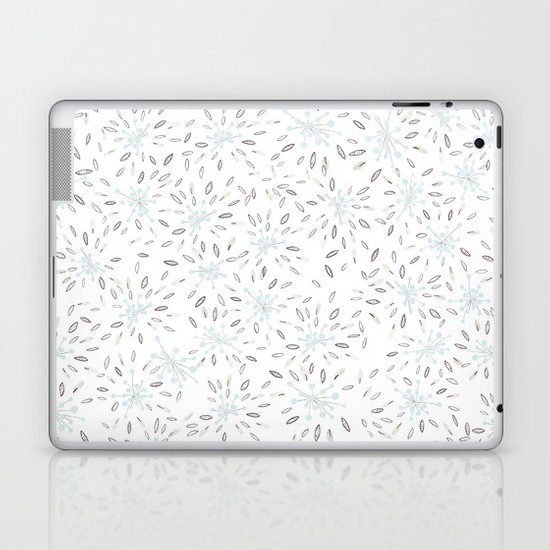 Blue Cherry Blossom Laptop & iPad Skin