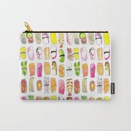 Sushi Watercolor-- Nigiri Sushi Carry-All Pouch