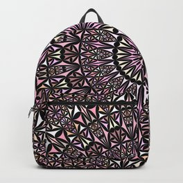 Pink Mosaic Window Mandala Backpack