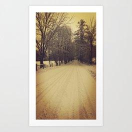 Winter dreaming Art Print