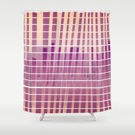 Purple Lines S18 Shower Curtain