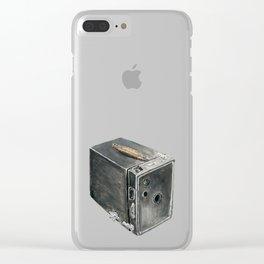 vintage brownie camera Clear iPhone Case