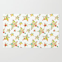 Colorful seamless pattern with stars Rug