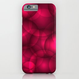 Glowing pink soap circles and volumetric glamorous bubbles of air and water. iPhone Case