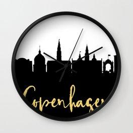 COPENHAGEN DENMARK DESIGNER SILHOUETTE SKYLINE ART Wall Clock