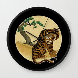 Tiger with magpie type-B : Minhwa-Korean traditional/folk art Wall Clock