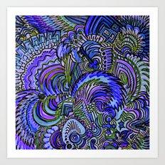 Oceans of Purple and Blue Zen Art Print