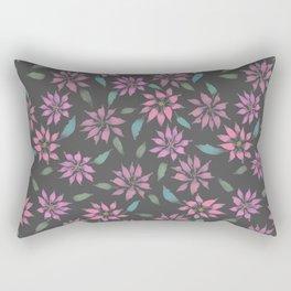 Dark Winter Floral Rectangular Pillow