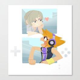 Game Screen Joshua and Neku Canvas Print