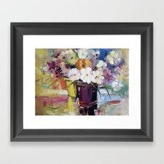 Flowers in a pot Framed Art Print