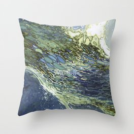 Ebb and Flow Ocean Waves Throw Pillow