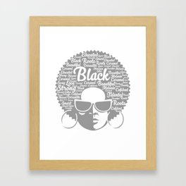 Awesome Natural Hair Strong Proud Women Illustration Framed Art Print