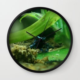 Poison (in Blue) Wall Clock