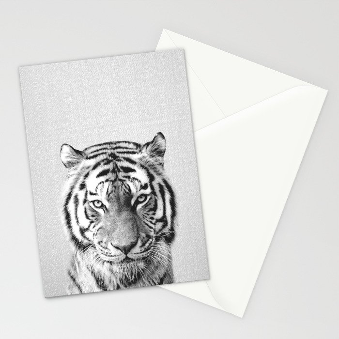 Tiger - Black & White Stationery Cards