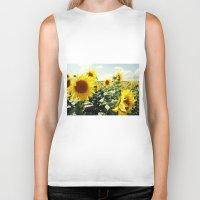 sunflowers Biker Tanks featuring Sunflowers by Falko Follert Art-FF77