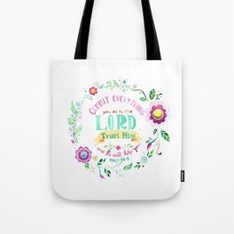 Psalm 37:5 Tote Bag