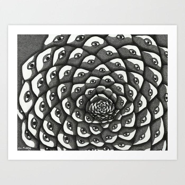 Cosmosis Pine Cone Art Print