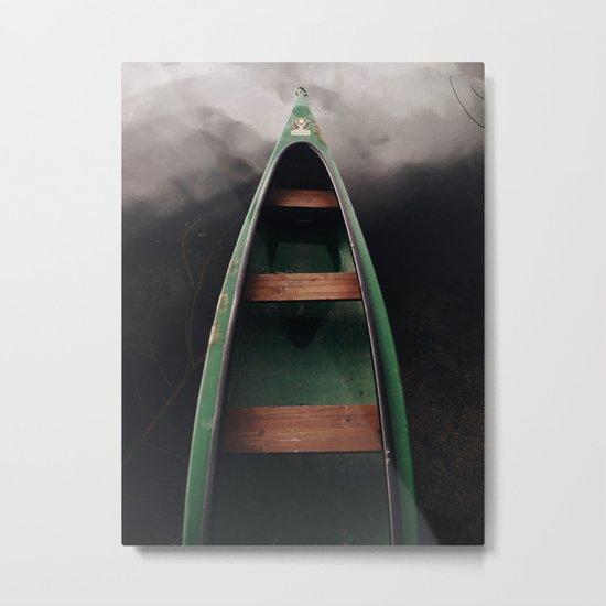 Storm under boat Metal Print