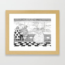 Her Majesty likes to stop for a slice of pizza after a night out Framed Art Print