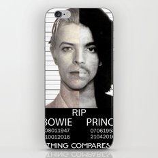BOWIE + PRINCE Mugshot iPhone & iPod Skin