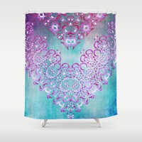 fairy tale Shower Curtains featuring Floral Fairy Tale by Octavia Soldani