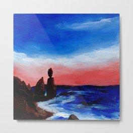 Rocky Beaches and Beautiful Skies Metal Print
